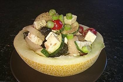 Melonensalat mit Feta 3