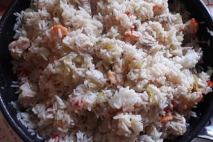 Jambalaya mit Garnelen und Huhn 11