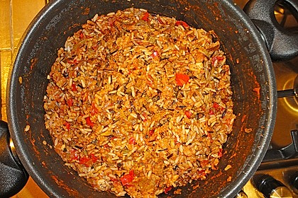 Jambalaya mit Garnelen und Huhn 10
