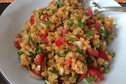 Salat aus roten Linsen 4