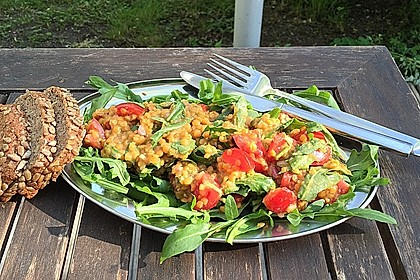 Salat aus roten Linsen 3