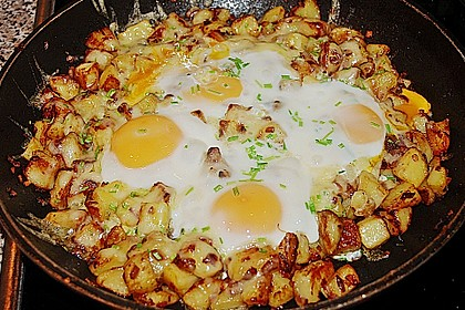 Bratkartoffeln mit Ei und Käse 5