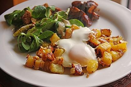 Bratkartoffeln mit Ei und Käse 2