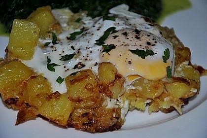 Bratkartoffeln mit Ei und Käse 6