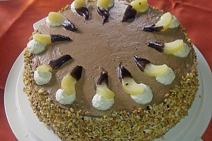 Nougat - Birnen - Torte