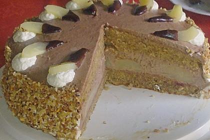 Nougat - Birnen - Torte 1