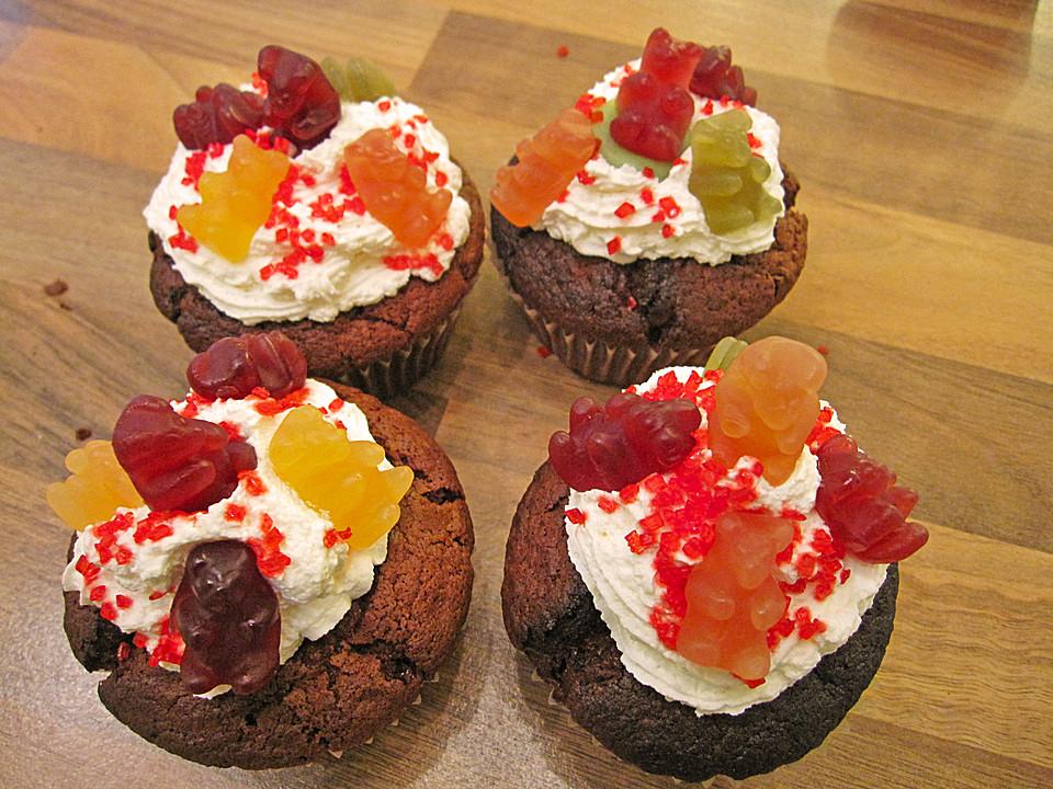 Devil's Food Cupcakes - Schokoladen Cupcakes - Schokomuffins mit ...