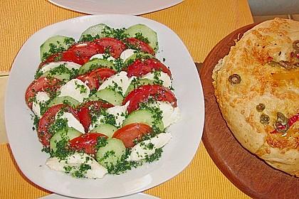 Tomaten - Mozarella - Gurken - Salat 6