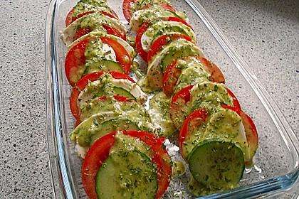 Tomaten - Mozarella - Gurken - Salat 8