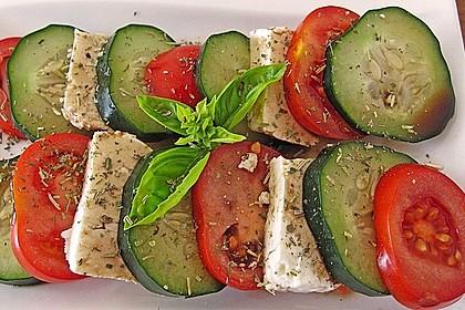 Tomaten - Mozarella - Gurken - Salat 4