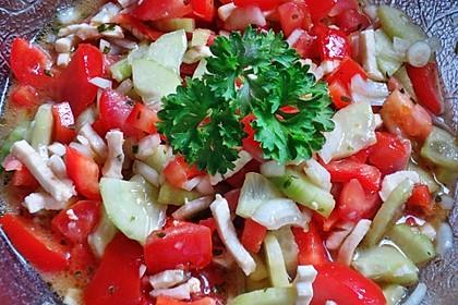 Tomaten - Mozarella - Gurken - Salat 7