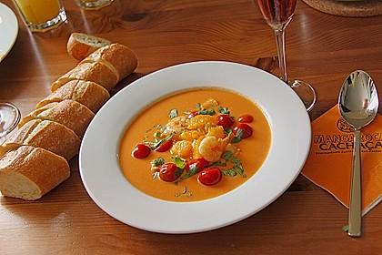 mangobears Tomaten - Kokos - Suppe mit Meeresfrüchten