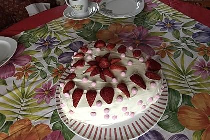 Schnelle Erdbeer - Mascarpone - Torte 10