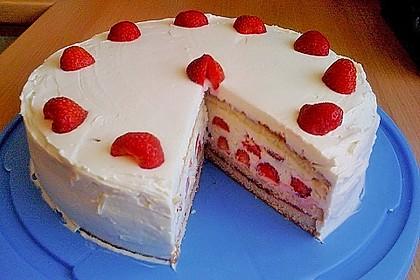 Schnelle Erdbeer - Mascarpone - Torte 16