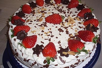 Schnelle Erdbeer - Mascarpone - Torte