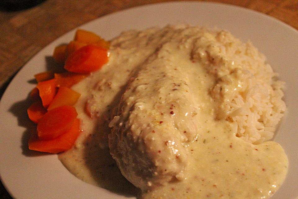illes pochierte hähnchenbrust mit meerrettich - senf soße für die ... - Chefkoch Schnelle Küche