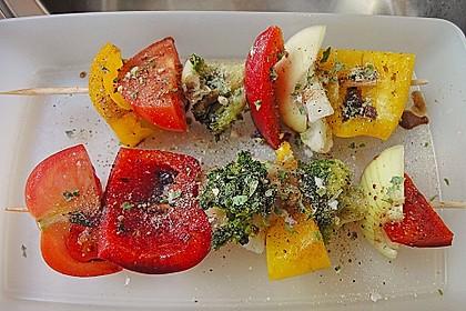 ma-jas vegetarische Gemüse - Grillspieße
