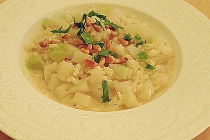Kohlrabi-Risotto mit Pinienkernen 31