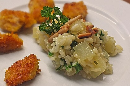 Kohlrabi - Risotto mit Pinienkernen 4