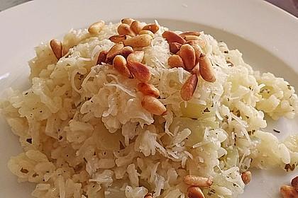 Kohlrabi - Risotto mit Pinienkernen 8