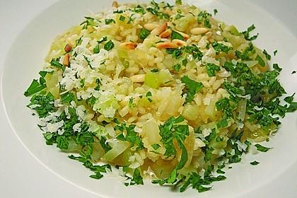 Kohlrabi - Risotto mit Pinienkernen