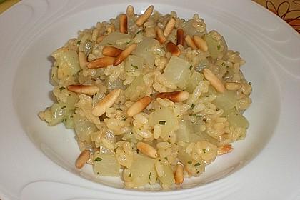 Kohlrabi - Risotto mit Pinienkernen 5