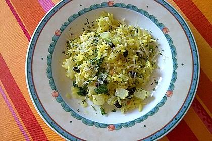 Kohlrabi-Risotto mit Pinienkernen 15