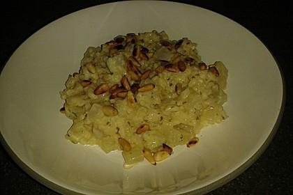 Kohlrabi - Risotto mit Pinienkernen 15