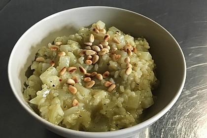 Kohlrabi - Risotto mit Pinienkernen 13