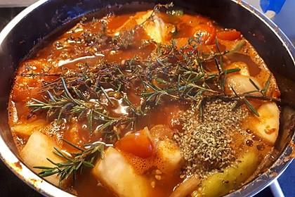 Altdeutsche Tomatensuppe mit Reis 10