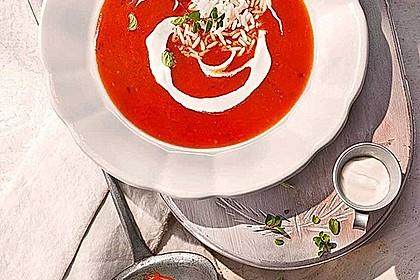 Altdeutsche Tomatensuppe mit Reis 1
