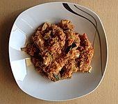 Couscous mit Hähnchen, Gemüse und Champignons