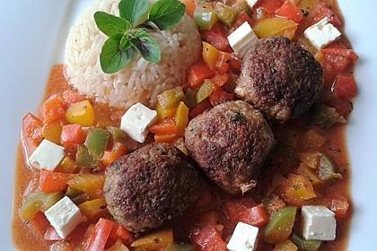 Chilibällchen mit Fetakäse und Paprikagemüse 4