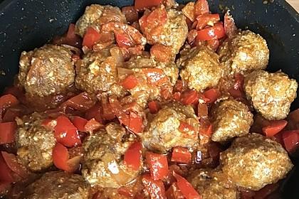 Chilibällchen mit Fetakäse und Paprikagemüse 14