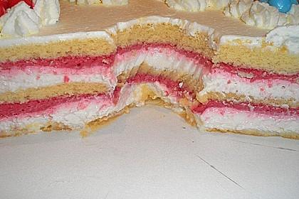 Himbeer - Smoothie - Torte mit Zitronencreme 8
