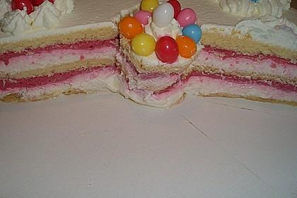 Himbeer - Smoothie - Torte mit Zitronencreme 9