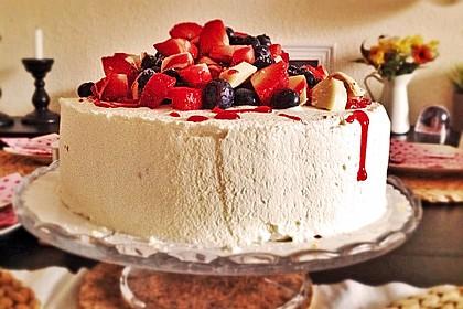 Himbeer - Smoothie - Torte mit Zitronencreme