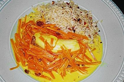 Möhren - Bananen - Ragout mit Nussreis 6