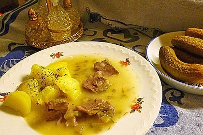 Rindfleischhaschee nach ostpreußischer Art süß-sauer