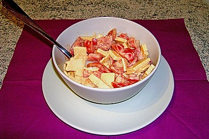 Dänischer Käse - Tomaten - Salat