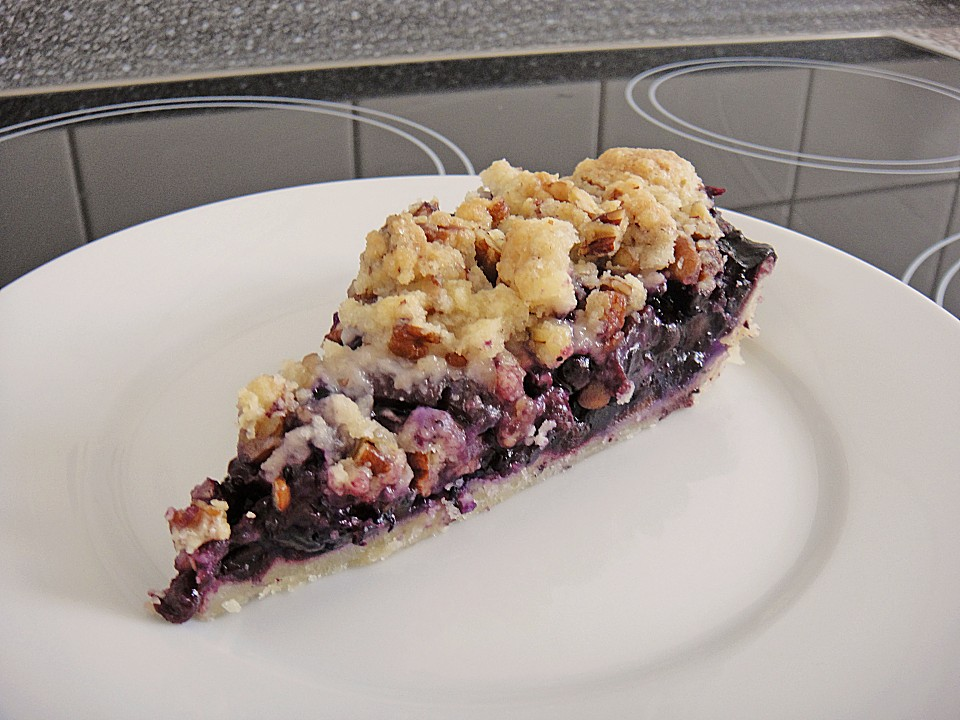 Peach Blueberry Pie with Pecan Crumb Topping (Rezept mit Bild ...