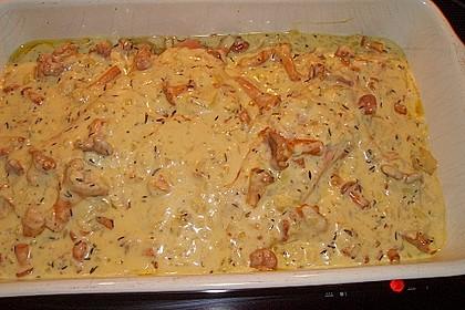Kartoffel - Lachs - Gratin mit Pfifferlingen 2