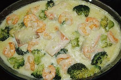 Lachsgratin mit Shrimps 3