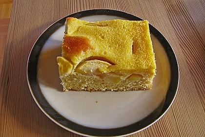 Apfelkuchen mit Eierlikörguss (Bild)