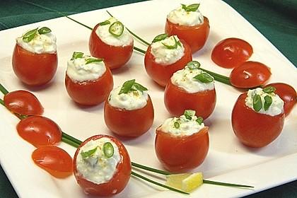 Gefüllte Tomaten mit Schafskäse - Creme 5