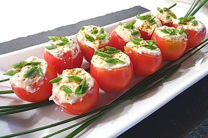 Gefüllte Tomaten mit Schafskäse - Creme 0