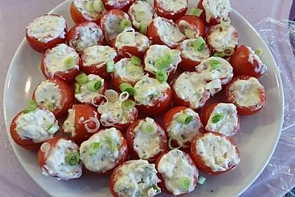 Gefüllte Tomaten mit Schafskäse - Creme 8