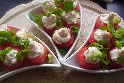 Gefüllte Tomaten mit Schafskäse - Creme 3