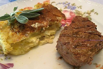 Salbei - Kartoffelgratin mit Parmesan 16