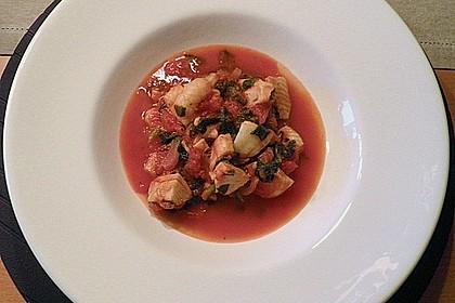 Mediterrane Fischpfanne mit Spinat